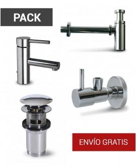 Pack grifo, válvula, llave y sifón
