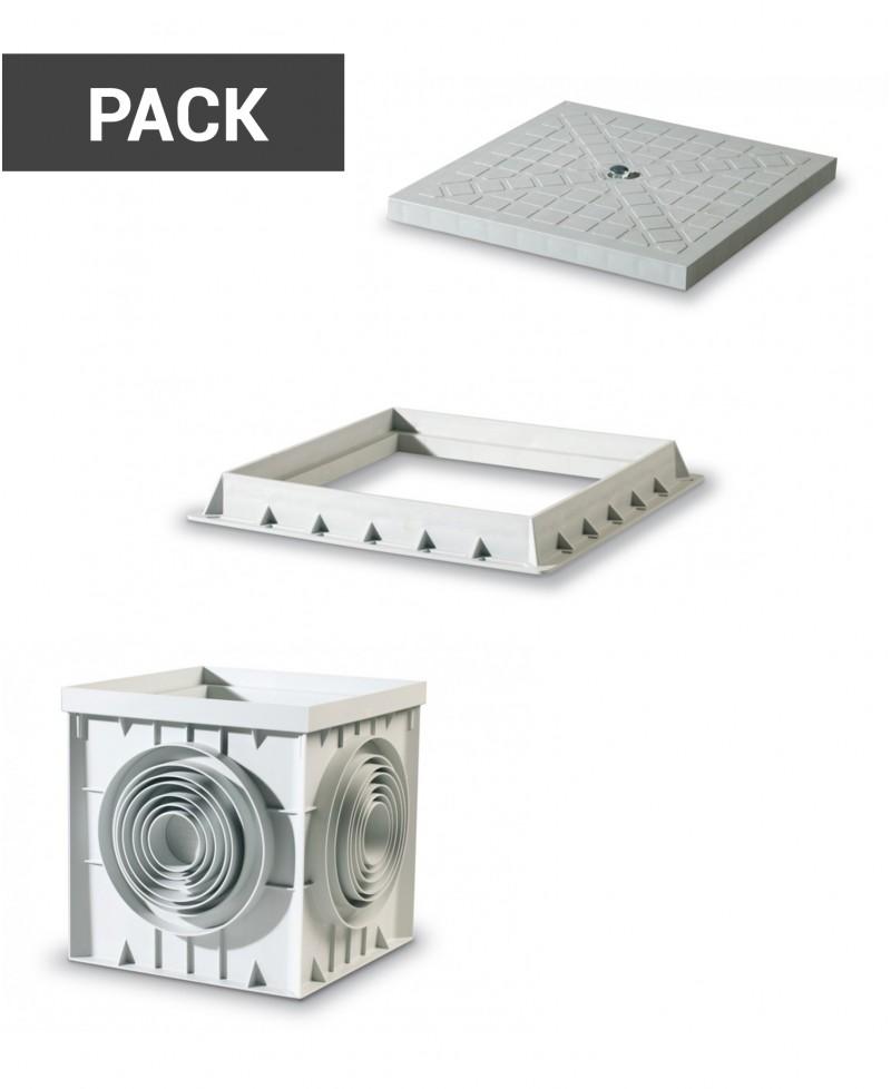 Pack tapa, marco y arqueta - 1